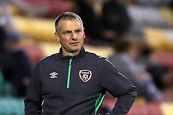 File photo dated 08-10-2021 of Republic of Ireland head coach Jim Crawford. Jim Crawford has challenged his Republic of Ireland Under-21s to set up their November double-header against Italy and Sweden by completing a perfect October in Montenegro. Issue date: Monday October 11, 2021.