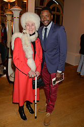 PRINCESS JEAN GALITZINE and singer MATT HENRY who came 4th on BBC TV's The Voice in 2013  at a party to celebrate the publication of  'I Used to be in Pictures' an untold story of Hollywood by Austin Mutti-Mewse and Howard Mutti-Mewse held at The Lansdowne Club, London on 6th March 2014.