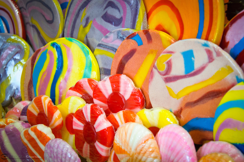 Assorted candy lollipops