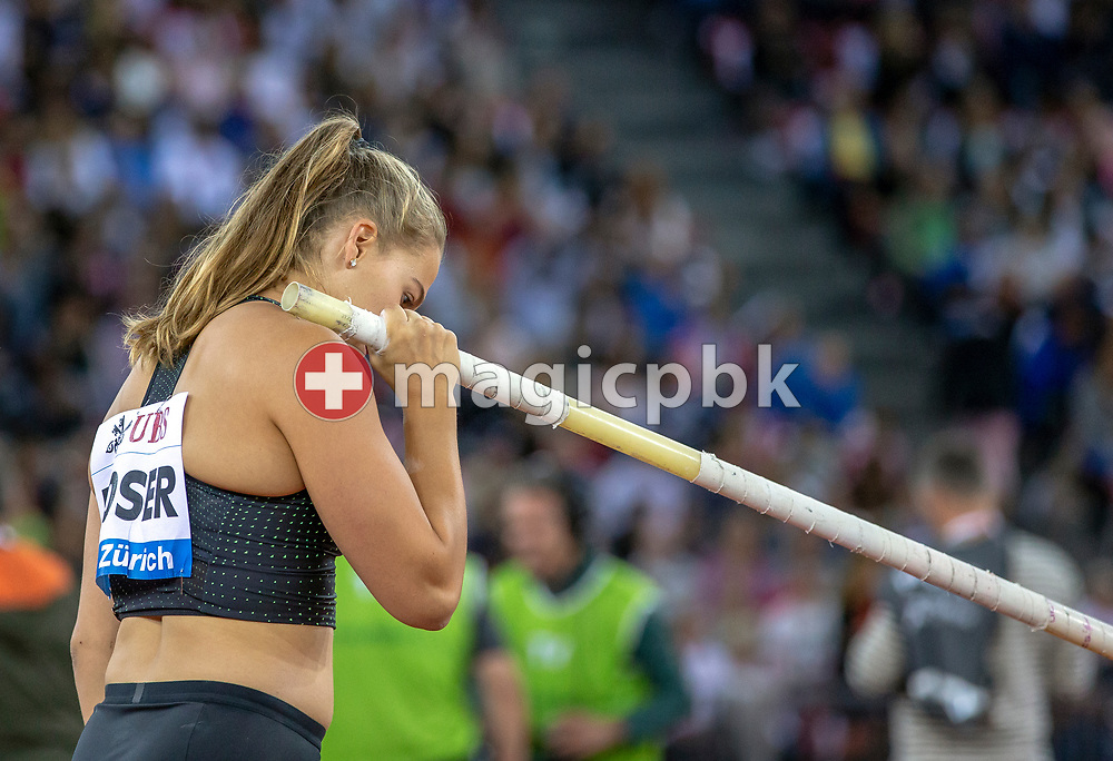 Pole Vault Women - Angelica MOSER during the Iaaf Diamond League meeting (Weltklasse Zuerich) at the Letzigrund Stadium in Zurich, Switzerland, Thursday, Aug. 30, 2018. (Photo by Patrick B. Kraemer / MAGICPBK)
