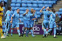 Photo: Pete Lorence.<br />Coventry City v Burnley. Coca Cola Championship. 09/12/2006.<br />Coventry celebrate Colin Cameron's goal from the penalty spot.