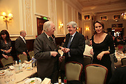 Dr. Tom Stuttaford, Diarmid J. Muirithe and Caroline Michel, Oldie of the Year Awards. Simpsons-in-the-Strand. London. 13 March 2007.  -DO NOT ARCHIVE-© Copyright Photograph by Dafydd Jones. 248 Clapham Rd. London SW9 0PZ. Tel 0207 820 0771. www.dafjones.com.