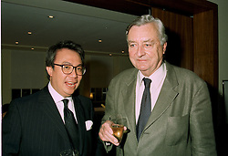 Left to right, MR DAVID TANG and MR MARK BIRLEY the owner of nightclub Annabels at a party in London on 11th June 1997.LZG 63