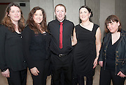 Avaya Voice members, Elaine Collins, Cathy Lavelle, Donal Ward, Louise Martyn and Joanne Kane who took part in the Choir Factor 2014 in the Radisson blu Hotel, Galway in aid of SCCUL Sanctuary at Kilcuan, Clarinbridge . Photo:Andrew Downes.