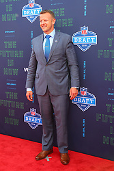 April 26, 2018 - Arlington, TX, U.S. - ARLINGTON, TX - APRIL 26:  Boise State head football coach Bryan Harsin  on the Red Carpet prior to the 2018 NFL Draft at AT&T Statium on April 26, 2018 at AT&T Stadium in Arlington Texas.  (Photo by Rich Graessle/Icon Sportswire) (Credit Image: © Rich Graessle/Icon SMI via ZUMA Press)