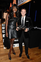 LORRAINE PASCALE and JASON ATHERTON winner of the Chef of the Year Award at the GQ Men of The Year Awards 2013 in association with Hugo Boss held at the Royal Opera House, London on 3rd September 2013.