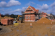 A87CTA Building site new housing development being built Rendlesham Suffolk England
