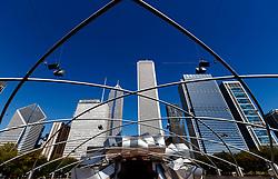 The Frank Gehry designed Jay Pritzker Pavilion, Chicago