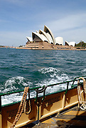 View of Sydney Opera House from Sydney Harbour Ferry. Sydney, Australia
