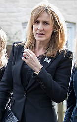 © Licensed to London News Pictures. 27/02/2017. Dummer, UK. SANTA MONTEFIORE, sister of Tara Palmer Tomkinson arrives at  All Saints' Church in Dummer, Hampshire for a memorial service for Tara Palmer Tomkinson. Tara, 45, was found dead in her home in south west London on February 8. Her older sister said that 'Tara Clare died peacefully in her sleep on February 8th 2017. Photo credit: Peter Macdiarmid/LNP