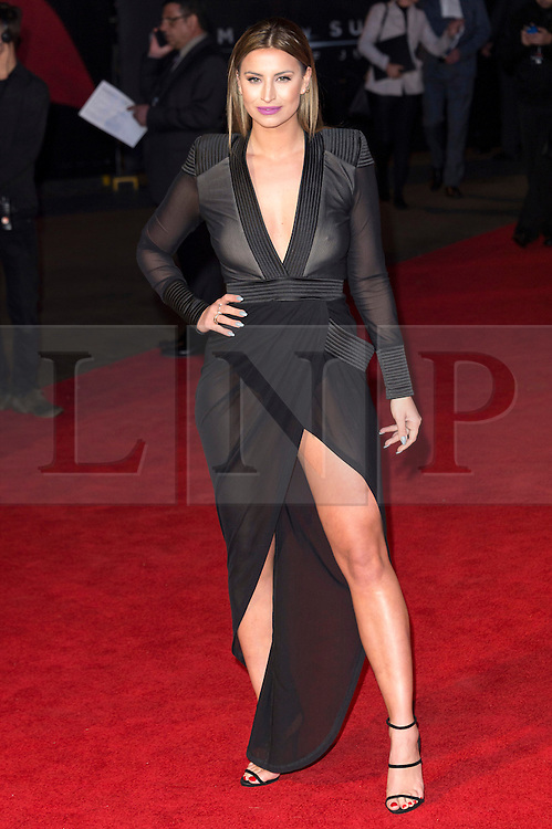 © Licensed to London News Pictures. 22/03/2016. FERNE McCANN attends the Batman V Superman: Dawn of Justice European film premiere. The film is based on the DC Comics characters. London, UK. Photo credit: Ray Tang/LNP