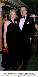 MR & MRS ARNAUD BAMBERGER, he is head of Cartier UK., at a ball in London on 7th February 1997.LWI 22