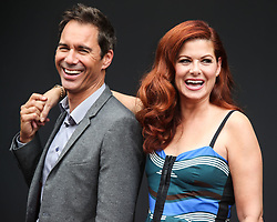'Will & Grace' Start Of Production Kick Off Event And Ribbon Cutting Ceremony held at Universal City Plaza at Universal Studios on August 2, 2017 in Universal City, California. 02 Aug 2017 Pictured: Eric McCormack, Debra Messing. Photo credit: IPA/MEGA TheMegaAgency.com +1 888 505 6342