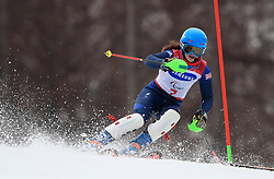 Great Britain's Menna Fitzpatrick competes in the Women's Slalom, Visually Impaired at the Jeongseon Alpine Centre during day nine of the PyeongChang 2018 Winter Paralympics in South Korea.