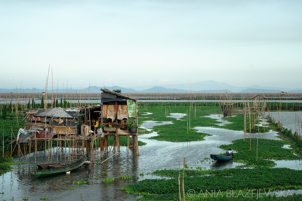 Philippines, Manila. Laguna de Bay is a big lake in the east of Metro Manila and one of the important water sources in the country.