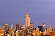 The Empire State Building and Midtown Manhattan skyline, New York City.