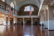 NEW YORK  2020V10<br /> Registreringsrummet på Ellis Island. Hit kom nåra miljoner immigranter för tester och registrering innan de eventuellt släpptes in i landet.<br /> <br /> Foto: Per Danielsson/Projekt.P