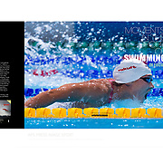 Moments in the Sport of Swimming, Magazine ISSUE 2 edited by apspressimage -photo agency - Images Sports- Project of author for Juan Antonio Samaranch Olympic and Sports Museum in Barcelona. Collection- Photographs by Alejandro Sala
