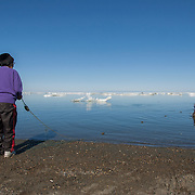 Inuit women in Barrow, Alaska.
