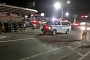 """September 4, 2016- Brooklyn, New York-United States:  J'Ouvert 2016.Celebration succumbs to violence as three are shot and another stabbed at the early morning fete.  J'Ouvert derives from a French term """"jour overt"""" meaning day break. It dates back over 200 years when French plantation owners and stemmed from night celebrations where owners imitated slaves. This form of celebration was reversed when freed slaves began to mock their master's behavior and continued to use this form of celebration in remembrance of their emancipation.  (Photo by Terrence Jennings/terrencejennings.com )"""