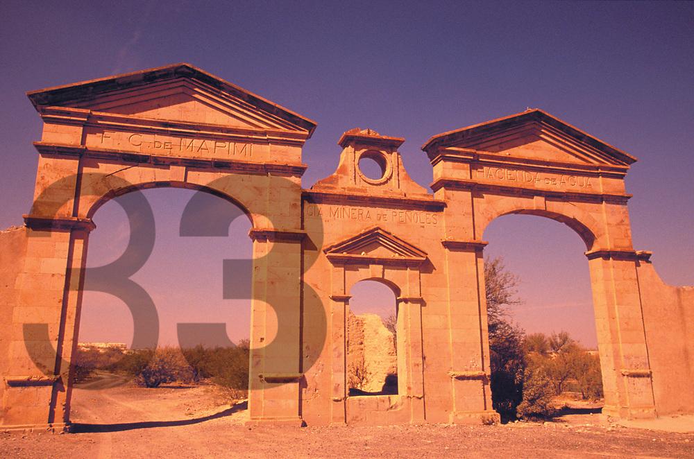 Mapimi, en el estado de Durango, Mexico. Cuna de Industrias Peñoles hace mas de 120 años