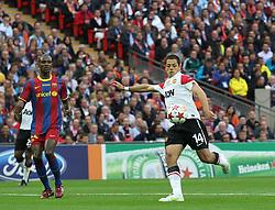 28-05-2011 VOETBAL: CHAMPIONS LEAGUE FINAL FC BARCELONA - MANCHESTER UNITED: LONDON<br /> Javier Hernandez<br /> ***NETHERLANDS ONLY***<br /> ©2011- FotoHoogendoorn.nl/nph/Mitchell Gunn