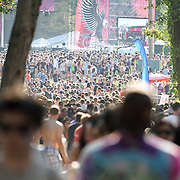 COLUMBIA, MD, -September 10th, 2011 - Crowds were a serious problem at  the 2011 Virgin Mobile FreeFest at Merriweather Post Pavilion.  The venue's series of narrow walking paths hampered crowd movement all day. (Photo by Kyle Gustafson/FTWP).
