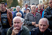 "Hundreds of citizens from the village of Brasy came to meet, support and to adore Czech president Milos Zeman's during his  public ""meetings with citizens"". Miloš Zeman (born 28 September 1944) is the third and current President of the Czech Republic, in office since 8 March 2013.  He announced his candidacy for the 2018 presidential elections which will be held in the Czech Republic on 12–13 January."
