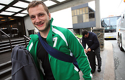Miha Rebolj at Slovenian National team packing and going from Citadel Hotel to the Halifax airport, when they finished with games at IIHF WC 2008 in Halifax, on May 11, 2008, Canada. (Photo by Vid Ponikvar / Sportal Images)