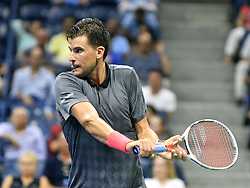 September 4, 2018 - Flushing Meadow, NY, U.S. - FLUSHING MEADOW, NY - SEPTEMBER 04: Dominic Thiem (AUT) in action during his quarter final match in the Men's Singles Championships of the US Open on September 4, 2018, at the Billie Jean King Tennis Center in Flushing Meadow, NY. (Photo by Cynthia Lum/Icon Sportswire) (Credit Image: © Cynthia Lum/Icon SMI via ZUMA Press)