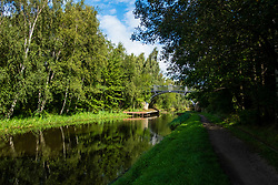 Tinsley and Sheffield Canal Brown Bailey Footbridge 10A looking towards Tinsley Marina <br />  06 September 2020<br /> <br /> www.pauldaviddrabble.co.uk<br /> All Images Copyright Paul David Drabble - <br /> All rights Reserved - <br /> Moral Rights Asserted -