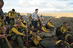 Director Joseph Kosinski on the set of Columbia Pictures' ONLY THE BRAVE.