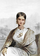 Queen Of Candy From the book ' The Oriental annual, or, Scenes in India ' by the Rev. Hobart Caunter Published by Edward Bull, London 1834 engravings from drawings by William Daniell
