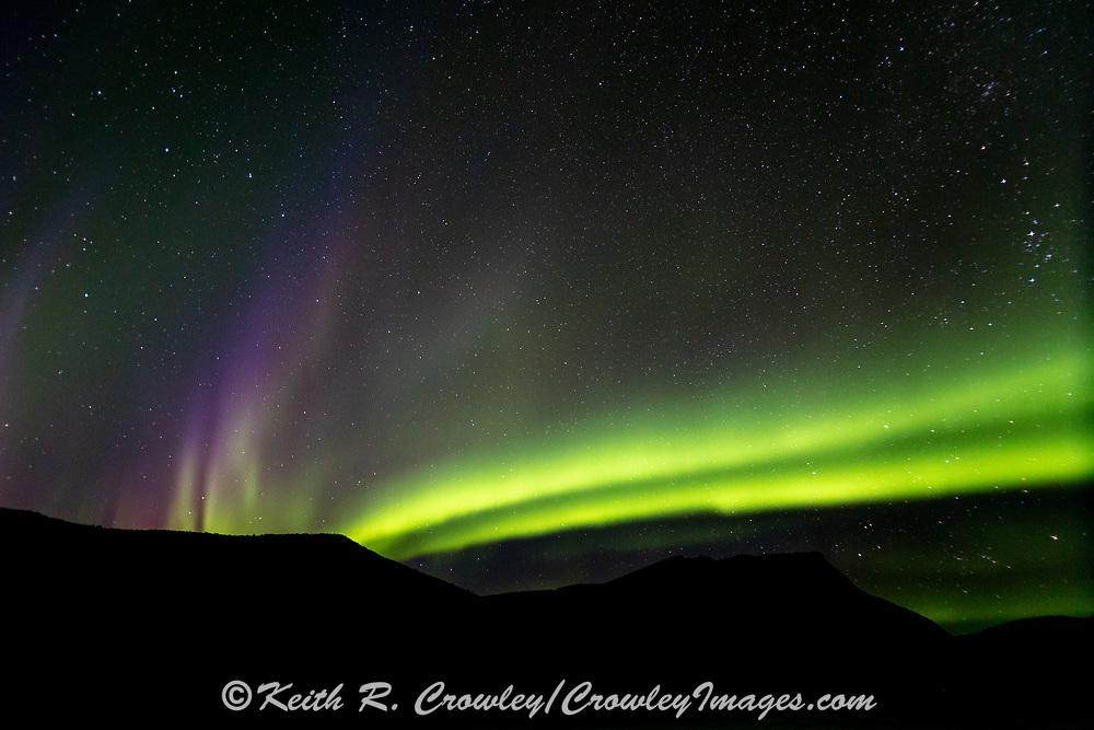 Aurora borealis (aka Northern Lights) along the ALCAN highway on the British Columbia/Yukon border