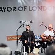 Isam B preforms at the Eid Festival 2018 in Trafalgar Square, London, UK on June 23 2018.