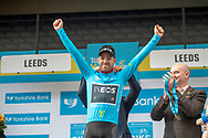 Chris Lawless of Team Ineos celebrate during stage four of the Tour de Yorkshire from Halifax to Leeds, , United Kingdom on 4 May 2019.