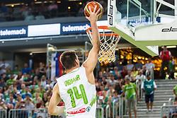 Gasper Vidmar of Slovenia during qualifying match between Slovenia and Kosovo for European basketball championship 2017,  Arena Stozice, Ljubljana on 31th August, Slovenia. Photo by Grega Valancic / Sportida