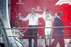 July 22, 2018 - Hockenheim, Germany - Motorsports: FIA Formula One World Championship 2018, Grand Prix of Germany, .#44 Lewis Hamilton (GBR, Mercedes AMG Petronas Motorsport), Dr. Dieter Zetsche (Chairman of the Board of Management of Daimler AG, Head of Mercedes-Benz Cars), #77 Valtteri Bottas (FIN, Mercedes AMG Petronas Motorsport) (Credit Image: © Hoch Zwei via ZUMA Wire)