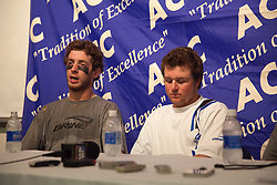 26 April 2009: Duke Blue Devils midfielder Ned Crotty (22) and attackman Max Quinzani (8)  during a 15-13 win over the North Carolina Tar Heels during the ACC Championship at Kenan Stadium in Chapel Hill, NC.