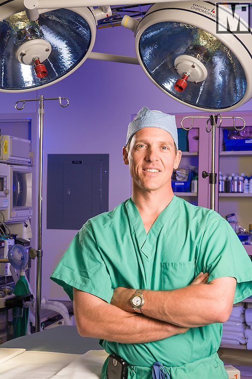 Physician portrait in the operating room at Cheyenne Regional Medical Center in Cheyenne, Wyoming.