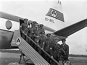 1960 - Advance party of the 33rd Battalion leaving Dublin  en route to the Congo