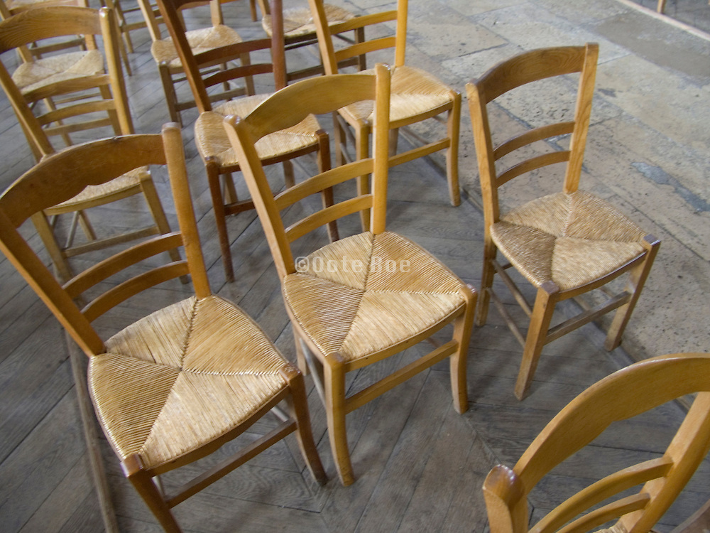 row of old style chairs