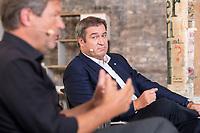 """28 AUG 2021, BERLIN/GERMANY:<br /> Robert Habeck (L), B90/Gruene, Bundesvorsitzender, und Markus Soeder (R), CDU, Ministerpraesident Bayern, """"Duell der Herzen"""",  TV Duell von Der Spiegel, Vice, T-Online, Vice Media Redaktion<br /> IMAGE: 20210828-01-112<br /> KEYWORDS: Markus Söder, Wahlkampf, Bundestagswahl 2021"""