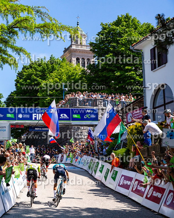 Tadej POGACAR of UAE TEAM EMIRATES, Diego ULISSI of UAE TEAM EMIRATES and Matteo SOBRERO of ASTANA - PREMIER TECH during the 4th Stage of 27th Tour of Slovenia 2021 cycling race between Ajdovscina and Nova Gorica (164,1 km), on June 12, 2021 in Slovenia. Photo by Matic Klansek Velej / Sportida
