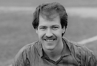 Ron Mudd, footballer, Ards FC, N Ireland, March 1986, 19860302RM<br /> <br /> Copyright Image from Victor Patterson, 54 Dorchester Park, <br /> Belfast, UK, BT9 6RJ<br /> <br /> t1: +44 28 9066 1296 (from Rep of Ireland 048 9066 1296)<br /> t2: +44 28 9002 2446 (from Rep of Ireland 048 9002 2446)<br /> m: +44 7802 353836<br /> <br /> e1: victorpatterson@me.com<br /> e2: victorpatterson@gmail.com<br /> <br /> www.victorpatterson.com<br /> <br /> Please see my Terms and Conditions of Use at VICTORPATTERSON.COM. It is IMPORTANT that you familiarise yourself with them.<br /> <br /> Images used on the Internet must be visibly watermarked i.e. ©VICTORPATTERSON.COM within the body of the image and copyright metadata must not be deleted. Images used on the Internet have a size restriction of 4kbs and are chargeable at the then current NUJ rates.<br /> <br /> This image is only available for the use of the download recipient i.e. television station, newspaper, magazine, book publisher, etc, and must not be passed on to any third party. It is also downloaded on condition that each and every usage is notified within 7 days to victorpatterson@me.com<br /> <br /> The right of Victor Patterson to be identified as the author is asserted in accordance with The Copyright Designs And Patents Act (1988).