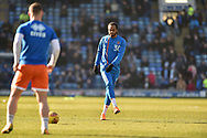 Blackpool Forward, Nathan Delfouneso (30) during the EFL Sky Bet League 1 match between Portsmouth and Blackpool at Fratton Park, Portsmouth, England on 24 February 2018. Picture by Adam Rivers.