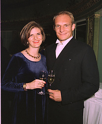 MR & MRS FRANCOISE PIENAAR, he was the captain of the 1995 World Cup winning South African rugby team, at a dinner in London on 29th October 1997.<br /> MCP 7