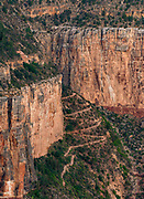 Bright Angel Trail from the South Rim at Dawn,<br />Grand Canyon National Park, Arizona