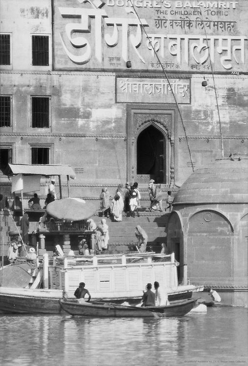 Painting a God, Benares, India, 1929