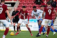 Northampton Town midfielder Shaun McWiliams (17) with a chance in the box during the EFL Sky Bet League 1 match between Northampton Town and Bury at Sixfields Stadium, Northampton, England on 25 November 2017. Photo by Nigel Cole.